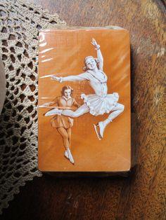 Vintage Skating Girl Playing Cards - NOS New Old Stock - Games, Ephemera, Junk Journal, Kitsch, Collectible, Retro Vintage Children's Books, Vintage Ephemera, Vintage Paper, Junk Journal, Kitsch, Skating, Childrens Books, Craft Supplies, Playing Cards