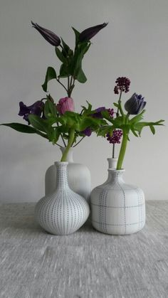 Blue Dots & Tradition Vases.