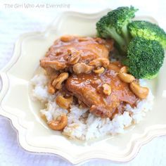 Slow Cooker Cashew Chicken | The Girl Who Ate Everything