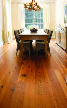 Hermitage Heart Pine Flooring / this would make me want to host Thanksgiving dinner every year!