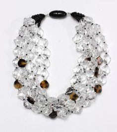 Angela Caputi Transparent & Tortoise Beaded Multistrand Necklace NEW | Jewelry & Watches, Fashion Jewelry, Necklaces & Pendants | eBay!
