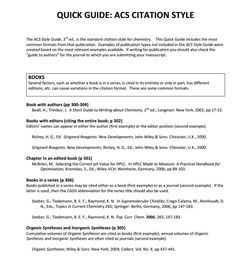 ACS Citation Style quick quide from Penn State.