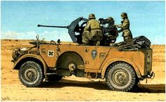 Kfz. 70 Horch 108 with 20mm Flak 30 of the Africa Korps