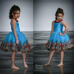 Loren Franco Designs Springs/Summer 2016 - turquoise tulle dress
