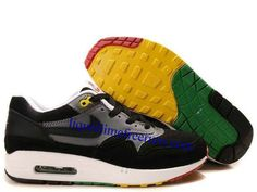 sale retailer 24cc6 4599f Mens Nike Air Max 1 Black Black Anthracite Pine Green Shoes Air Max St, Nike