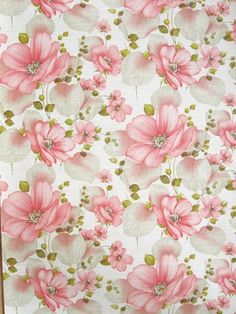 antique floral paper