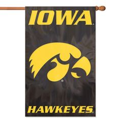 Iowa Hawkeyes NCAA Applique Banner Flag 44x28