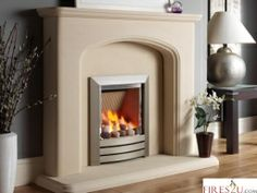 The Kinder Camber gas fire contraditory balance of cool beach pebbles or coal fuel bed and dancing flames captivates you on entering the room.