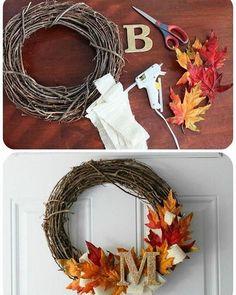 Fall wreath www.homebunch.com…
