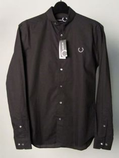 Fred-PERRY-x-RAF-SIMONS-noir-chemise-manches-longues-taille-s-brand-new-no-Rsrv 49€