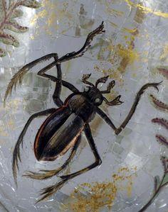 Emile Gallé - Vase 'Insectes, Poissons et Fougères' - Verre émaillé - 1878-84