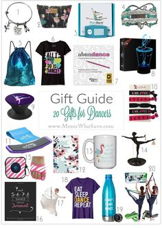 Gift Guide -- 20 Gifts for Dancers    #gifts #giftguide #dance #holidays #Christmas #HolidayGiftGuide