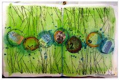 Art journal....love the green