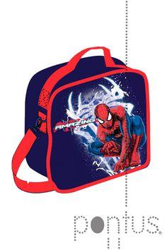 Lancheira Spiderman térmica c/alça 24X7X20cm | JB