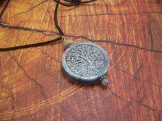 Raku Ceramic Tree of Life Necklace on Cord or by CreatedinTheWoods, $14.95
