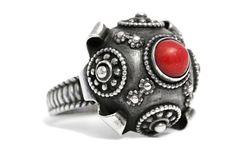 Jewish Antique Red Coral Ring Silver Art Deco https://tezsah.com/shop/en/detail/index/sArticle/1402