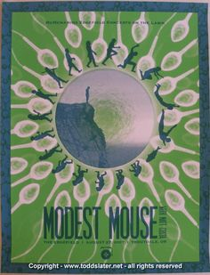 modest mouse concert poster | 2007 Modest Mouse Silkscreen Concert Poster by Todd Slater - $80.00 ...