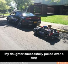 My daughter successfully pulled over a cop / iFunny :)