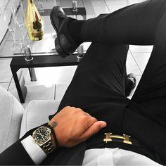 Hermes H belt and Rolex