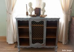Pretty painted French table with shelves ~ Belle Junque: Portfolio ~ ~ bellejunque.blogspot.com