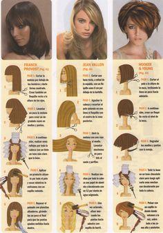 Afbeeldingsresultaat voor cortes de pelo paso a paso Cut Own Hair, How To Cut Your Own Hair, Hair Cuts, Haircut Diy, Curly Hair Styles, Natural Hair Styles, Hair Cutting Techniques, Corte Y Color, Shoulder Length Hair