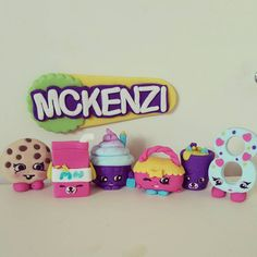 Shopkins cake topper set with personalised by MadAboutCakeToppers