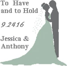A personal favorite from my Etsy shop https://www.etsy.com/listing/273851582/bride-and-groom-cross-stitch