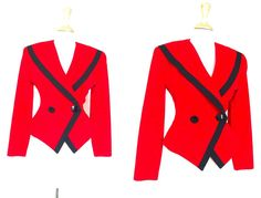 Vintage Red and Black Blazer by VolereVintage on Etsy, $45.00