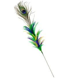 PGG Mardi Gras & Peacock Feather Pick: 24