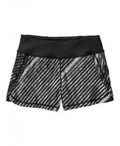 577b7b08bf773 Athleta Womens Printed Pulse Short Size XL - Black stripe Yoga Capris, Yoga  Pants,