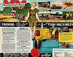 1938 Minneapolis-Moline Tractor Farm Vintage Print AD