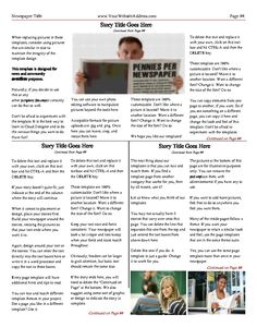 Free Newsletter Templates  Print And Digital  Makemynewspaper
