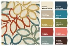 Upholstery Fabric- Richloom Studio Poeme Tropical === Chip It! by Sherwin-Williams
