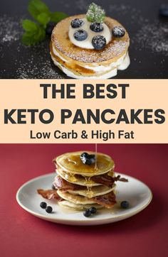 Light, fluffy and airy keto pancakes, perfect for breakfast or served as keto dessert. With only eight ingredients that you may already have in your pantry, you can enjoy an excellent low carb breakfast and serve the most delicious pancakes in the world. It is great that they are also gluten free, wheat free making them suitable for many lifestyles.