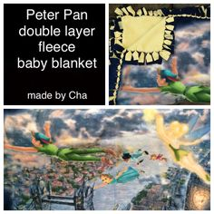 Peter Pan baby blanket! I had the fabric for years. I just knew that there was going to be a baby some day that should have this blankie! #peterpan #babyblanket #fleece #craftninja See this Instagram photo by @cherrynotincali