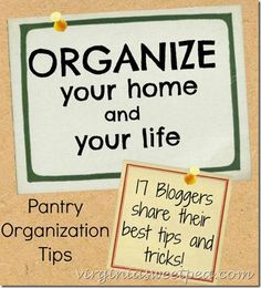 Tips for Pantry Organization (+ Other Home Organization Ideas) - www.virginiasweetpea.com