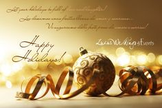 happy holidays from Luxur Weddings