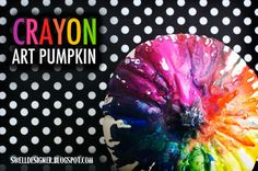 Crayon  Art Pumpkin (with lots of other pumpkin ideas at the bottom of the post)
