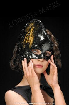 """Handcrafted Mask """"Black pearl"""" - Unique Mask Design made with love, Papier Mâché, Exclusive, Styling accessory, Art Mask Design, Halloween Face Makeup, Fashion Accessories, Pearls, Trending Outfits, Unique Jewelry, Handmade Gifts, Masks, Etsy"""