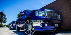GMC Sierra with VCT Godfather Lowered Trucks, Gm Trucks, Chevy Trucks, Wheels And Tires, Hot Wheels, Tyre Companies, Gmc Pickup, Cadillac Fleetwood, Top Cars