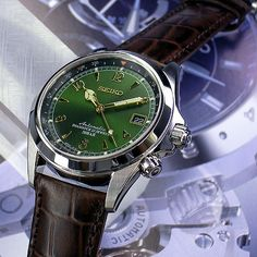 c-watch company presented by Chino watch co Ltd: Seiko Alpinist - Purchase now to accumulate reedemable points! Seiko Mechanical Watch, Seiko Alpinist, Watch Companies, Seiko Watches, Automatic Watch, Business Fashion, Luxury Watches, Omega Watch, Chronograph