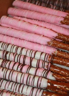 Our Gourmet Chocolate Covered Pretzel Rods can be covered how ever you like them. Milk chocolate, white chocolate or dark chocolate. With or