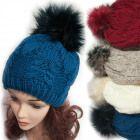 Wintermütze Mit Fleece, Fellbommel, 5041 Knitted Hats, Winter Hats, Knitting, Fashion, Moda, Tricot, Fashion Styles, Breien, Stricken