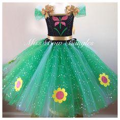 Frozen Fever Anna Frozen Fever Party, Frozen Birthday Party, Princess Tutu Dresses, Disney Dresses, Little Girl Dresses, Girls Dresses, Ana Frozen, Frozen Disney, Frozen Costume