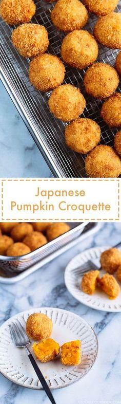 Japanese Pumpkin Croquettes (Kabocha Korokke) かぼちゃコロッケ | Easy Japanese Recipes at JustOneCookbook.com