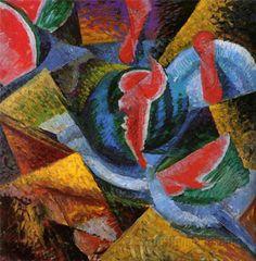 Umberto-Boccioni-Still-Life-Watermelon-30x29-Wall-Art-Canvas-Print-Unframed