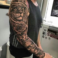 Tattoos Discover Image may contain: one or more people Tiger Tattoo Sleeve Lion Tattoo Sleeves A Tattoo Forarm Tattoos Mens Lion Tattoo Cool Forearm Tattoos Full Sleeve Tattoos Tattoo Motive Tattoo Sleeve Designs Dope Tattoos, Lion Forearm Tattoos, Lion Head Tattoos, Mens Lion Tattoo, Forarm Tattoos, Hand Tattoos, Tattoos For Guys, Best Tattoos, Tattoo Wolf