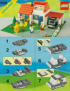 Old LEGO® Instructions | letsbuilditagain.com Lego Instructions Lego town holiday villa Building Lego sets