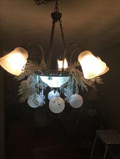Christmas Photos, Christmas Decorations, Chandelier, Xmas, Ceiling Lights, Lighting, Home Decor, Yule, Homemade Home Decor