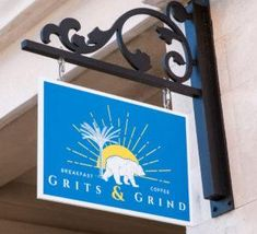 Grits and Grind Store Sign in Seacrest Beach